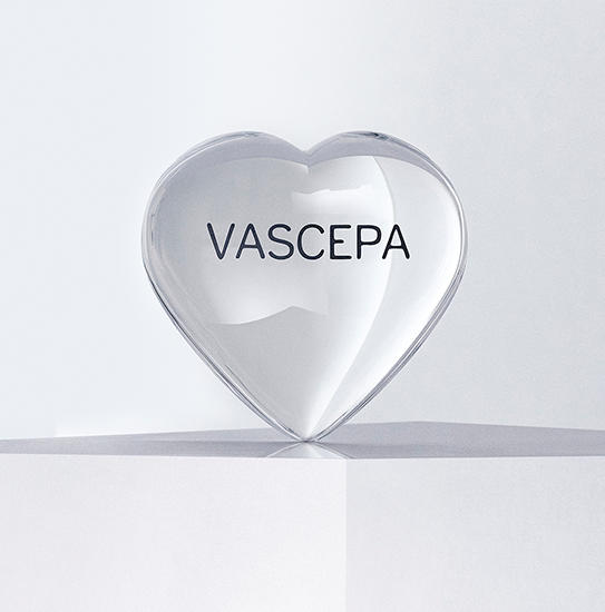 A clear VASCEPA® (icosapent ethyl) heart