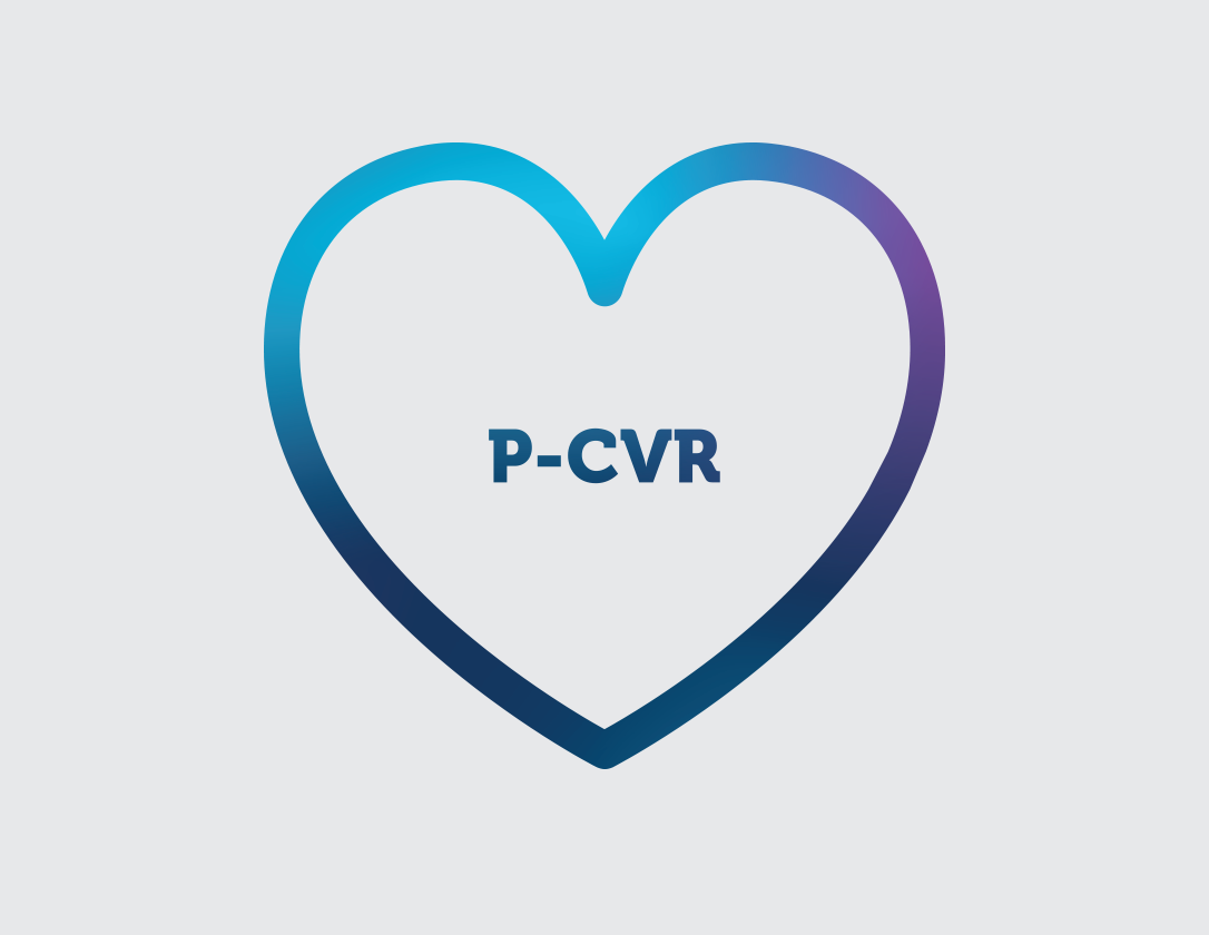 Icon of a heart representing Persistant Cardiovascular Risk (P-CVR), the cardiovascular risk that reminas even when taking a statin and managing cardiovascular  risk factors.